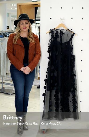 Laser Cut Dot Organza Midi Dress, sales video thumbnail