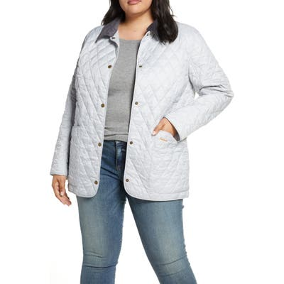 Plus Size Barbour Annandale Water Resistant Quilted Utility Jacket, White