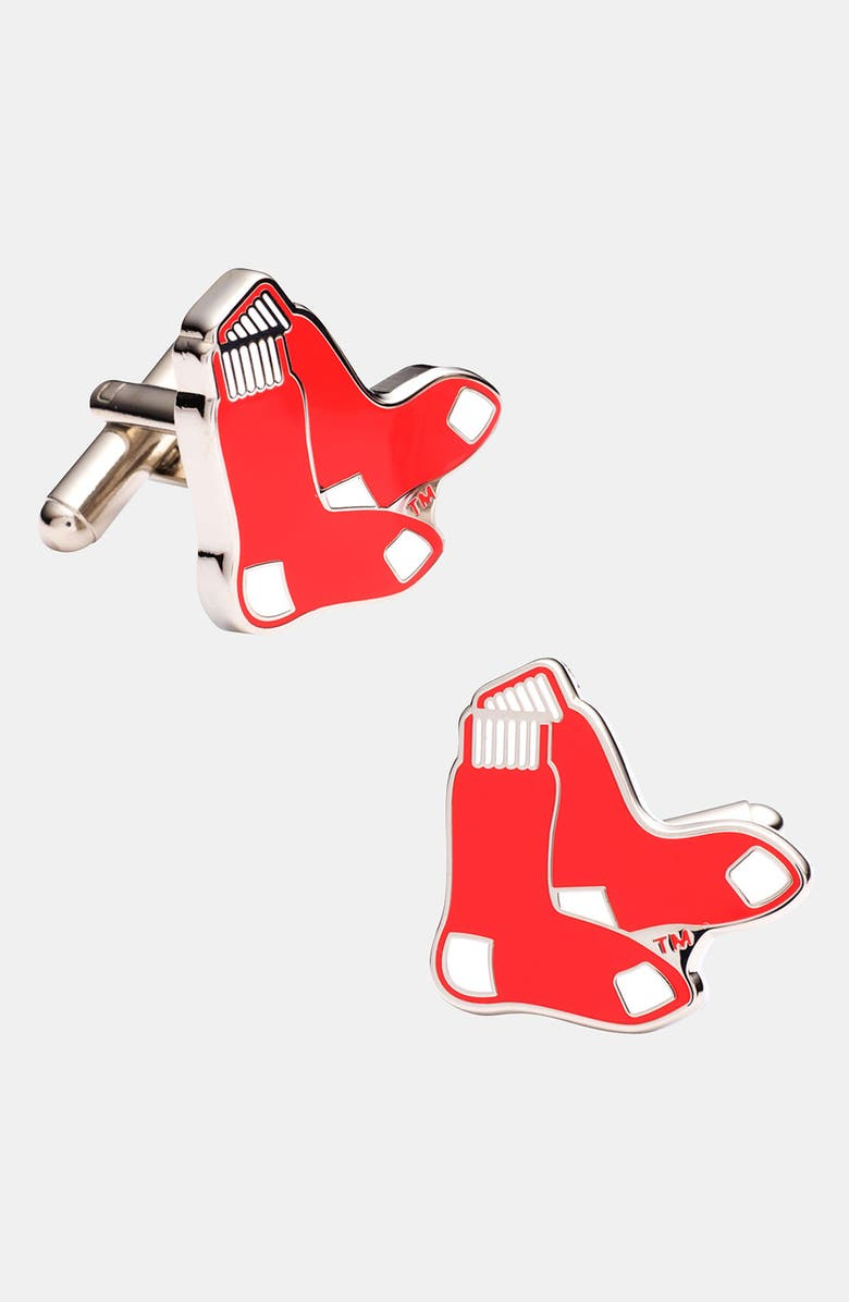 CUFFLINKS, INC. 'Boston Red Sox' Cuff Links, Main, color, RED