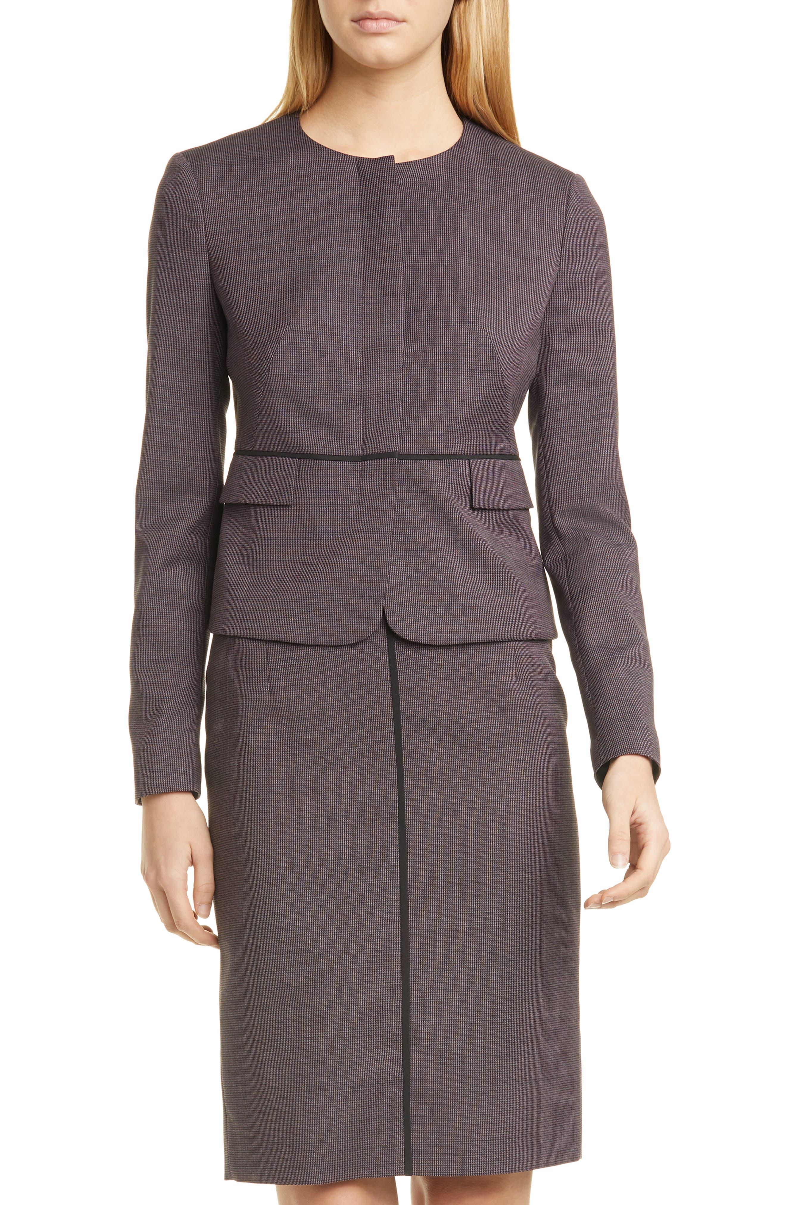 BOSS Jokile Microcheck Suit Jacket