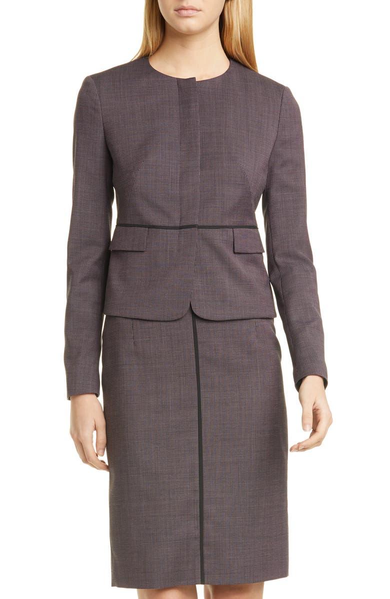 BOSS Jokile Microcheck Suit Jacket, Main, color, 600