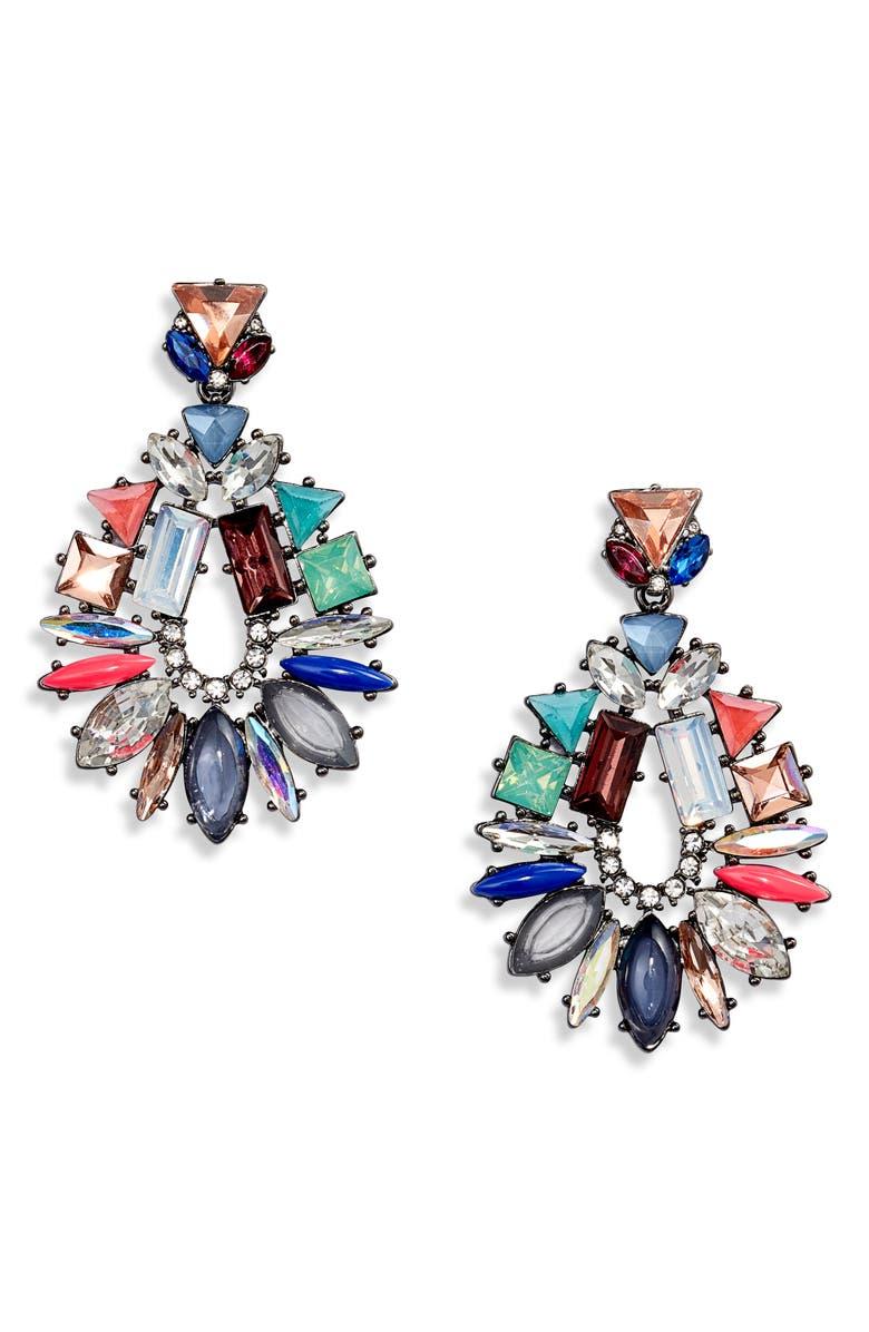 STELLA & DOT Mix It Up Drop Earrings, Main, color, HEMATITE/ MULTI