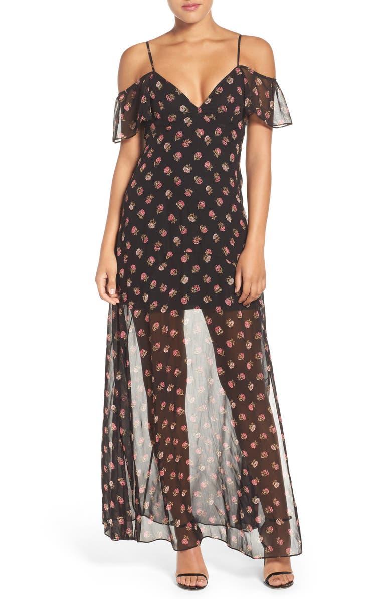 NEEDLE & THREAD Prairie Maxi Dress, Main, color, 001