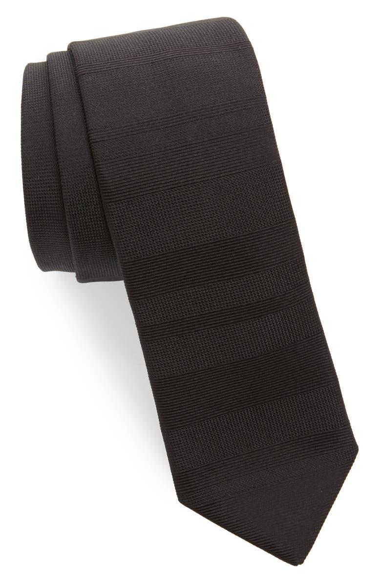 TITLE OF WORK Stripe Silk Tie, Main, color, 001