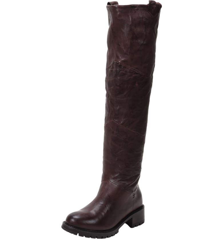 ROSS & SNOW Elena Waterproof Genuine Shearling Lined Knee High Boot, Main, color, ESPRESSO LEATHER