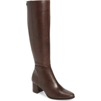 Calvin Klein Freeda Knee High Boot, Brown