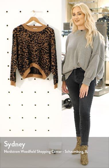 Leopard Print Sweater, sales video thumbnail