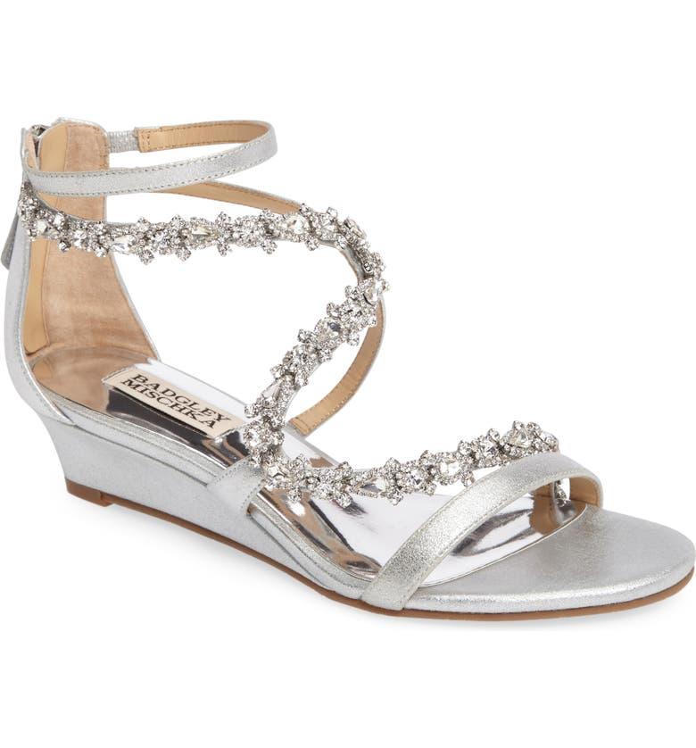 4cd547d642d Badgley Mischka Belvedere Embellished Wedge Sandal