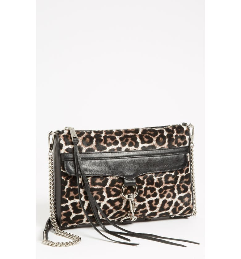 REBECCA MINKOFF 'MAC Clutch' Calf Hair Crossbody Bag, Small, Main, color, 001