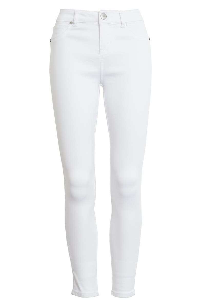 1822 DENIM Butter High Waist Ankle Skinny Jeans, Main, color, WHITE