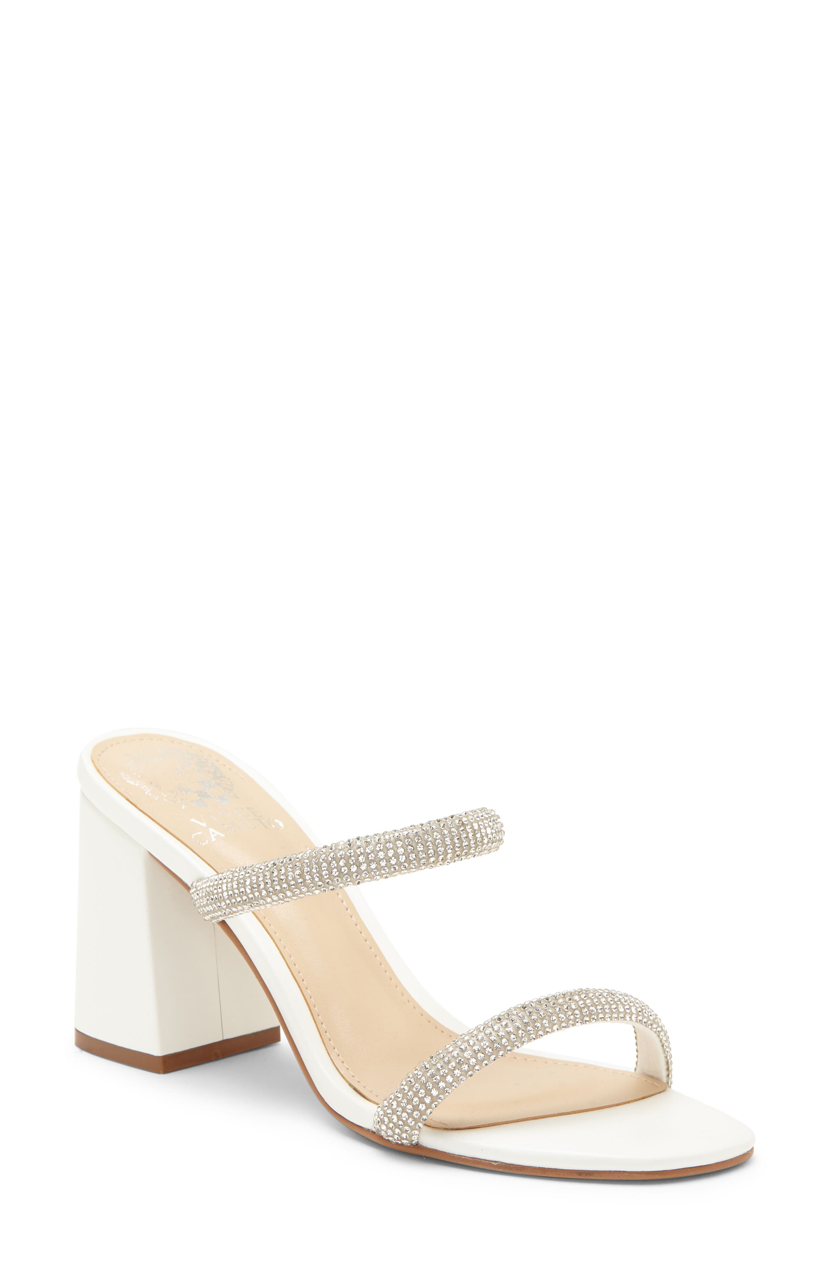 Image of Vince Camuto Magaly Embellished Block Heel Sandal