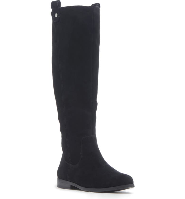 SOLE SOCIETY Bramie Knee High Boot, Main, color, BLACK SUEDE