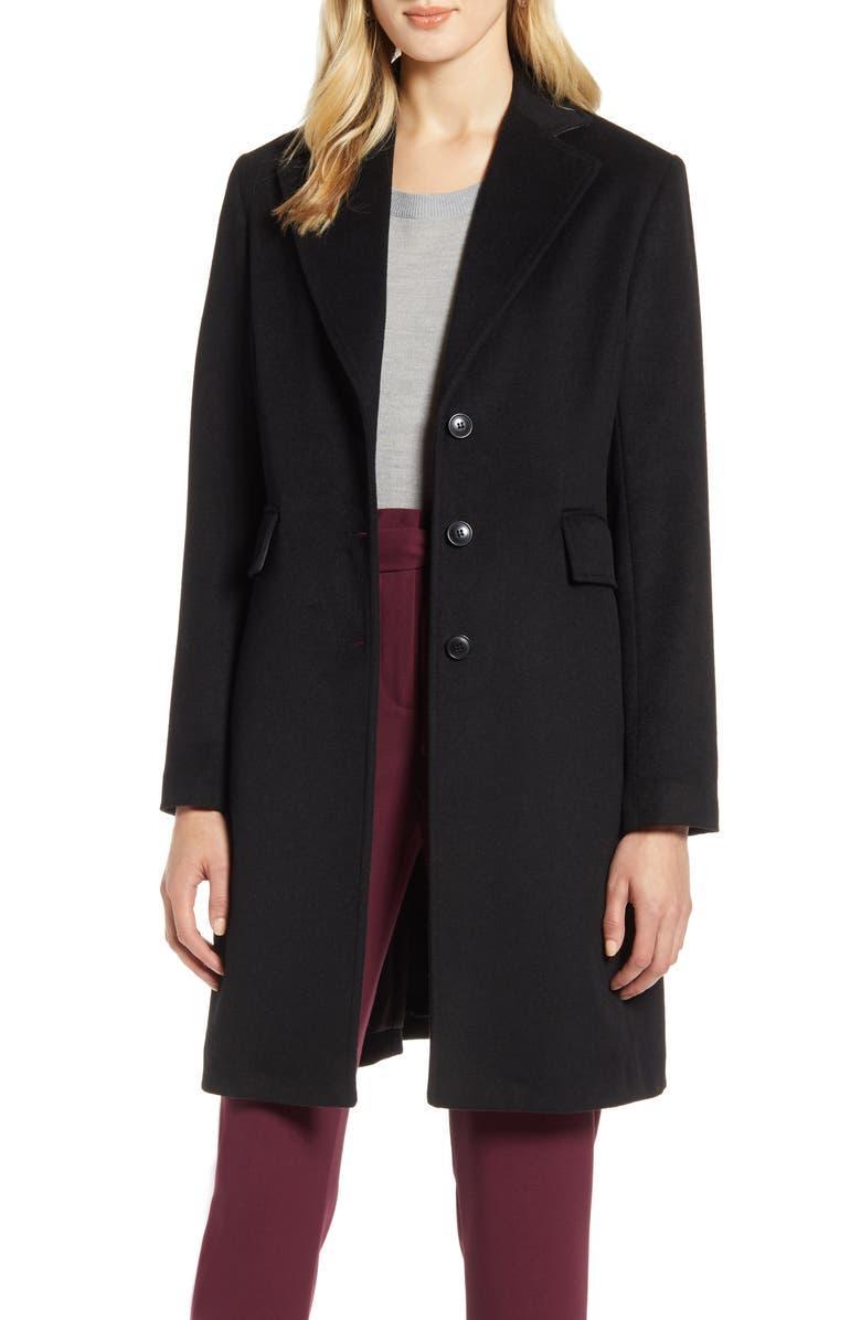 HALOGEN<SUP>®</SUP> Single Breast Wool Blend Jacket, Main, color, 001