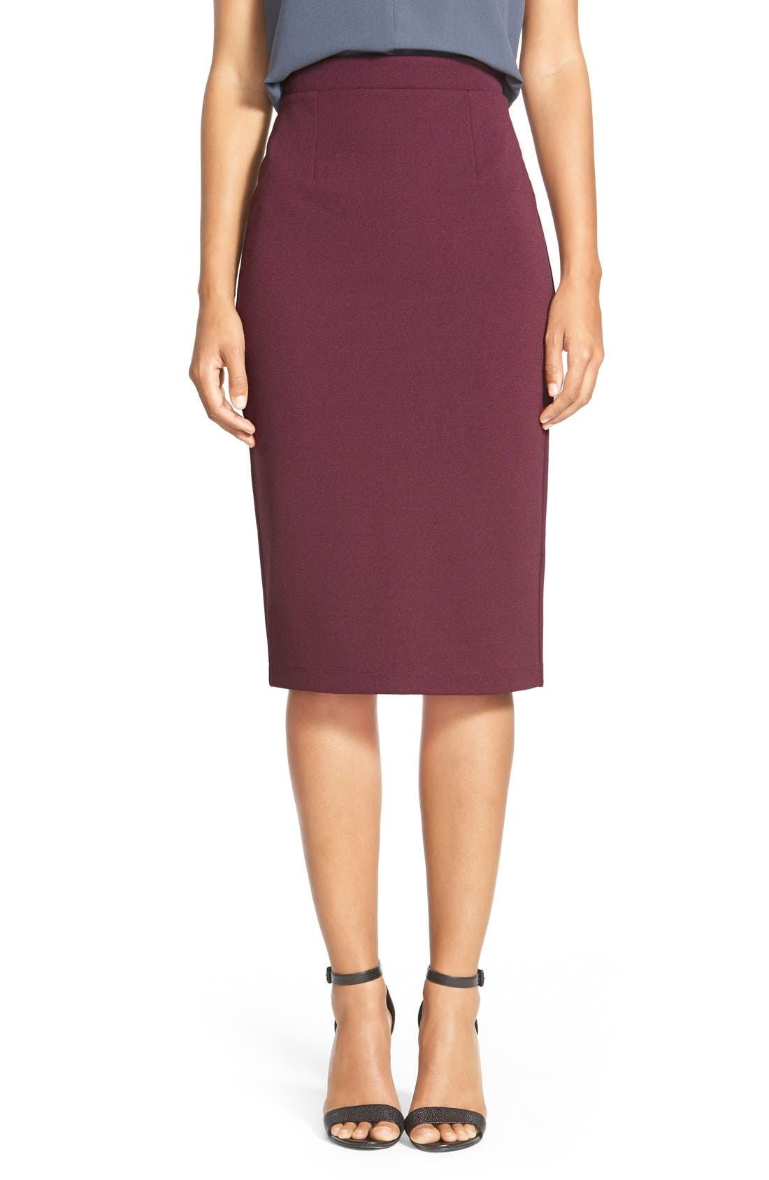 ,                             Zip Back Knit Pencil Skirt,                             Main thumbnail 22, color,                             930