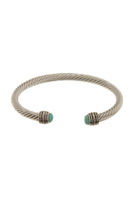 Image of Meshmerise Twisted Cable Turquoise Cuff Bangle