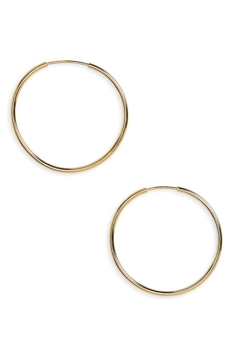 ARGENTO VIVO Endless Hoop Earrings, Main, color, GOLD