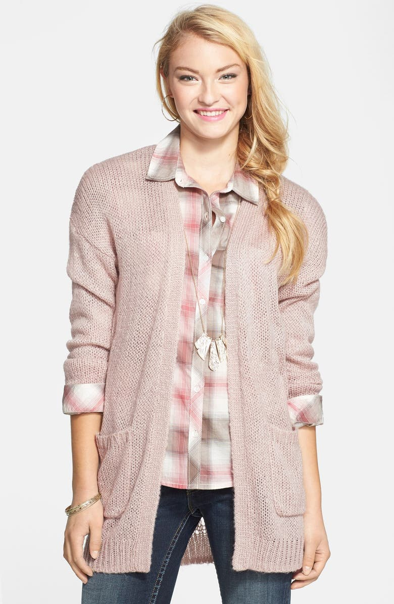 FRENCHI <sup>®</sup> Pointelle Back Open Cardigan, Main, color, 260