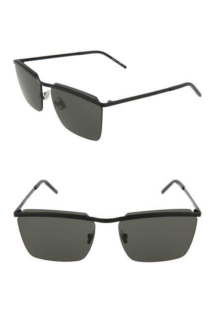 Image of Saint Laurent 60mm Square Sunglasses