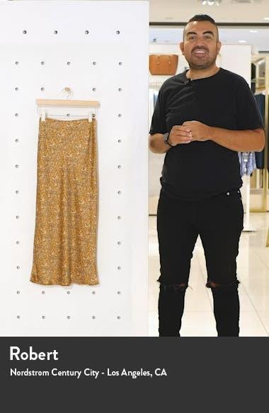Animal Print Bias Cut Maxi Skirt, sales video thumbnail