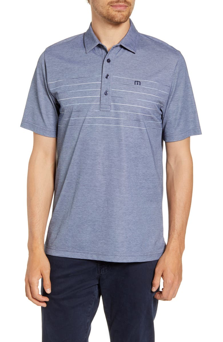 TRAVISMATHEW Good Good Polo Shirt, Main, color, HEATHER PURPLE SAGE