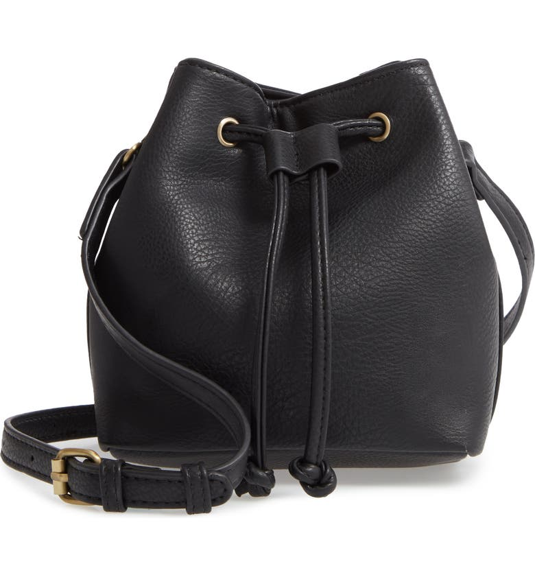 BP. Drawstring Crossbody Bag, Main, color, BLACK