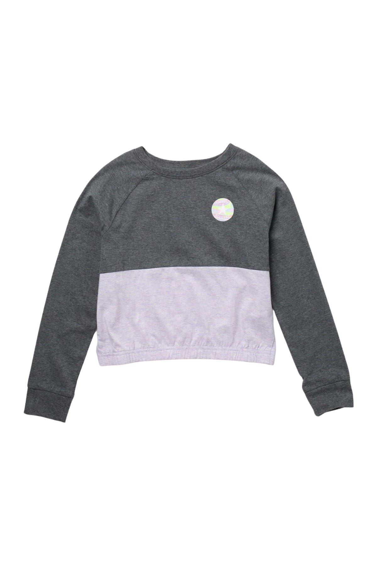 Image of Converse Colorblocked Long Sleeve Top
