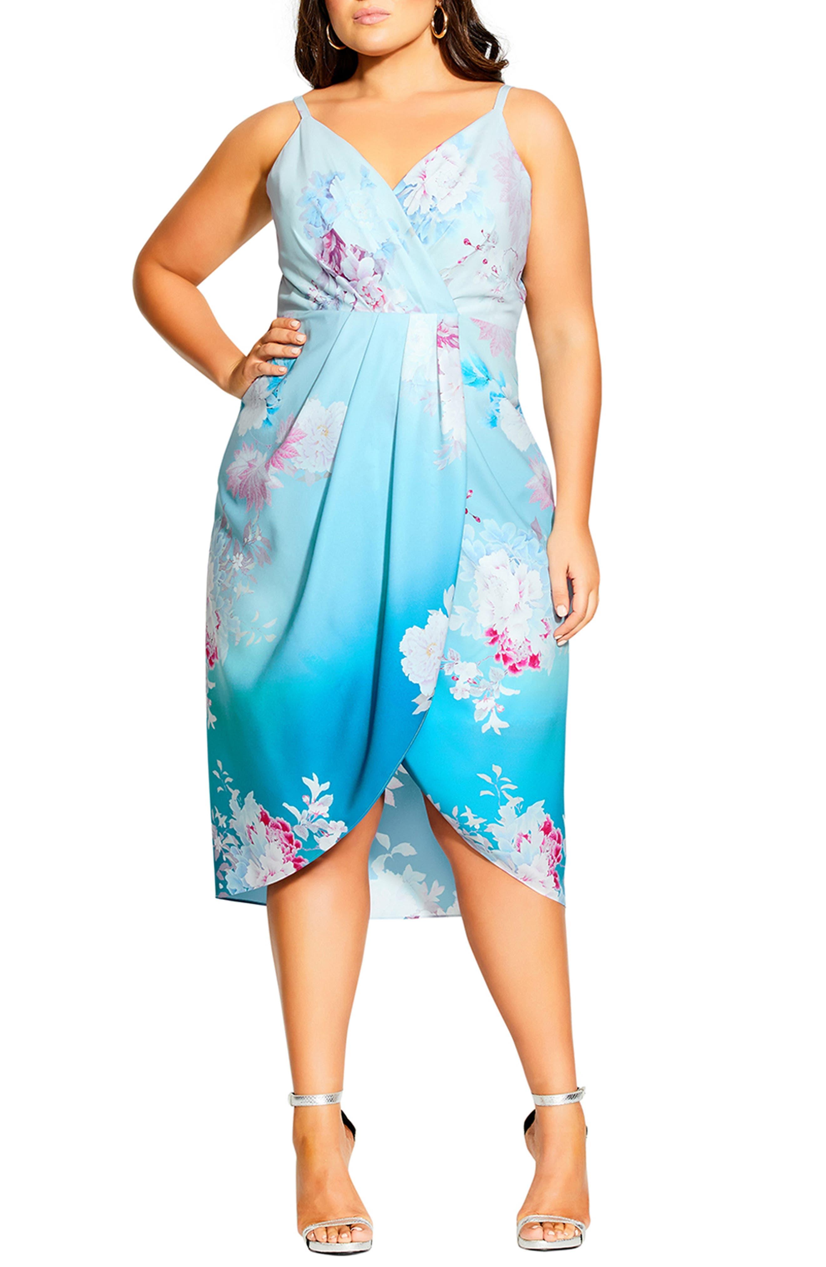 Tsubaki Love Floral Sleeveless Midi Dress