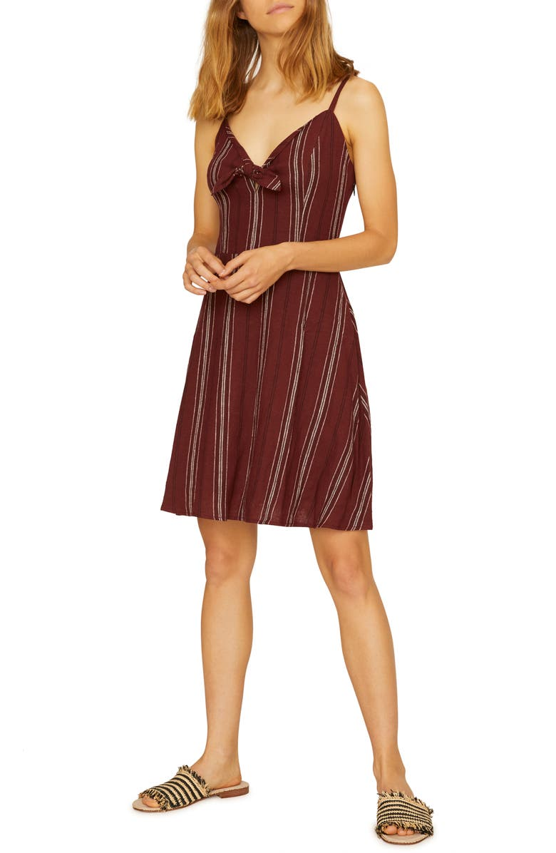 Sanctuary Take Away Tie Front Sundress