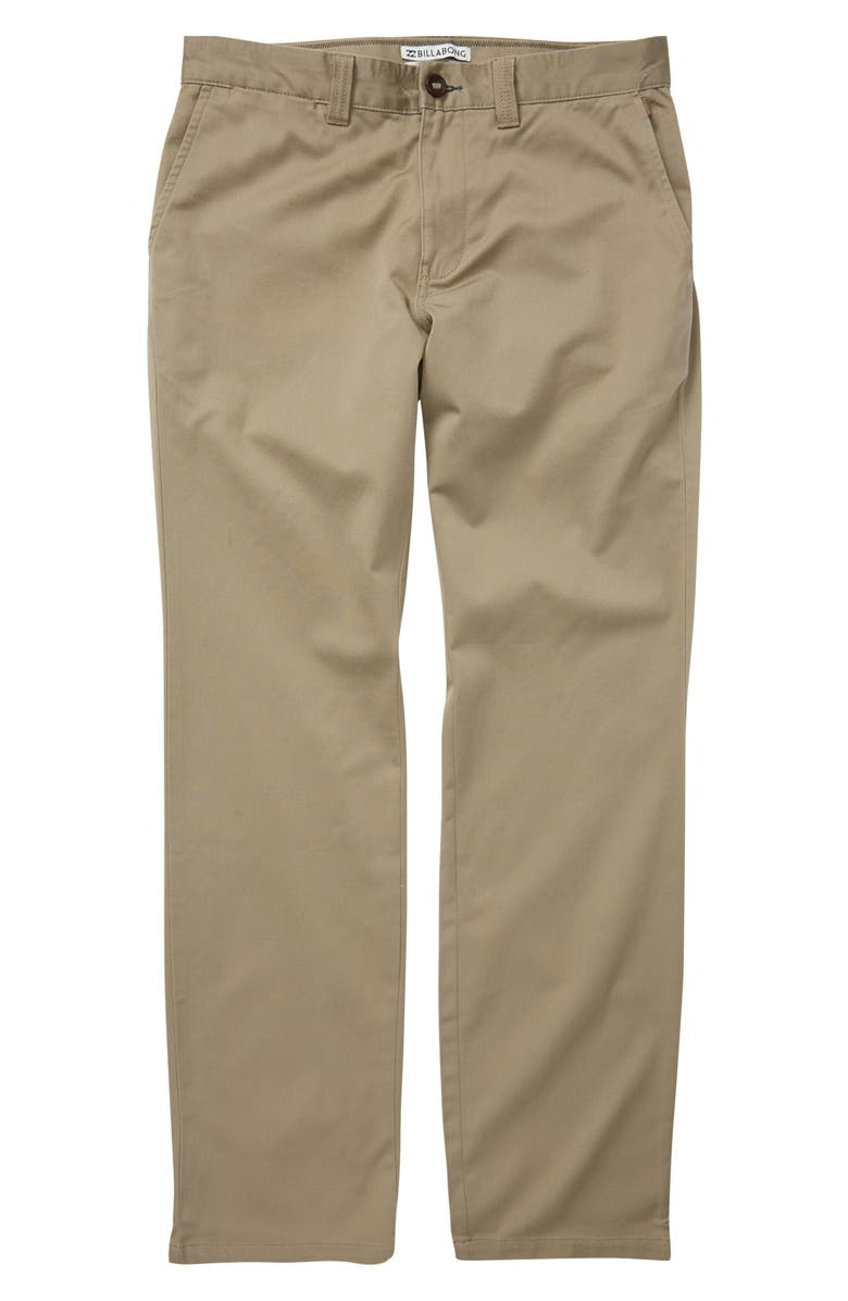 BILLABONG Carter Stretch Chinos, Main, color, DARK KHAKI