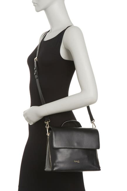 Image of Lipault Foldover Leather Crossbody Bag