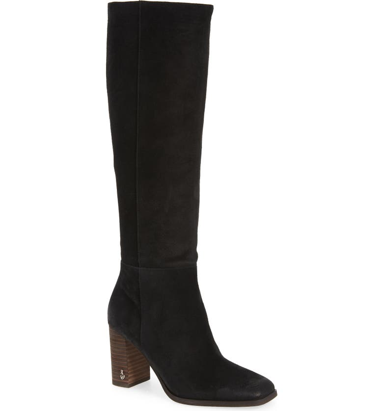 SAM EDELMAN Olly Knee High Boot, Main, color, BLACK