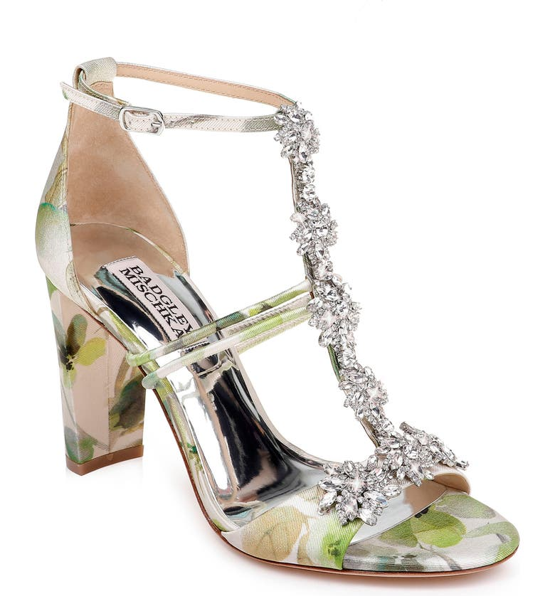 BADGLEY MISCHKA COLLECTION Badgley Mischka Laney Sandal, Main, color, FRESH FLORAL