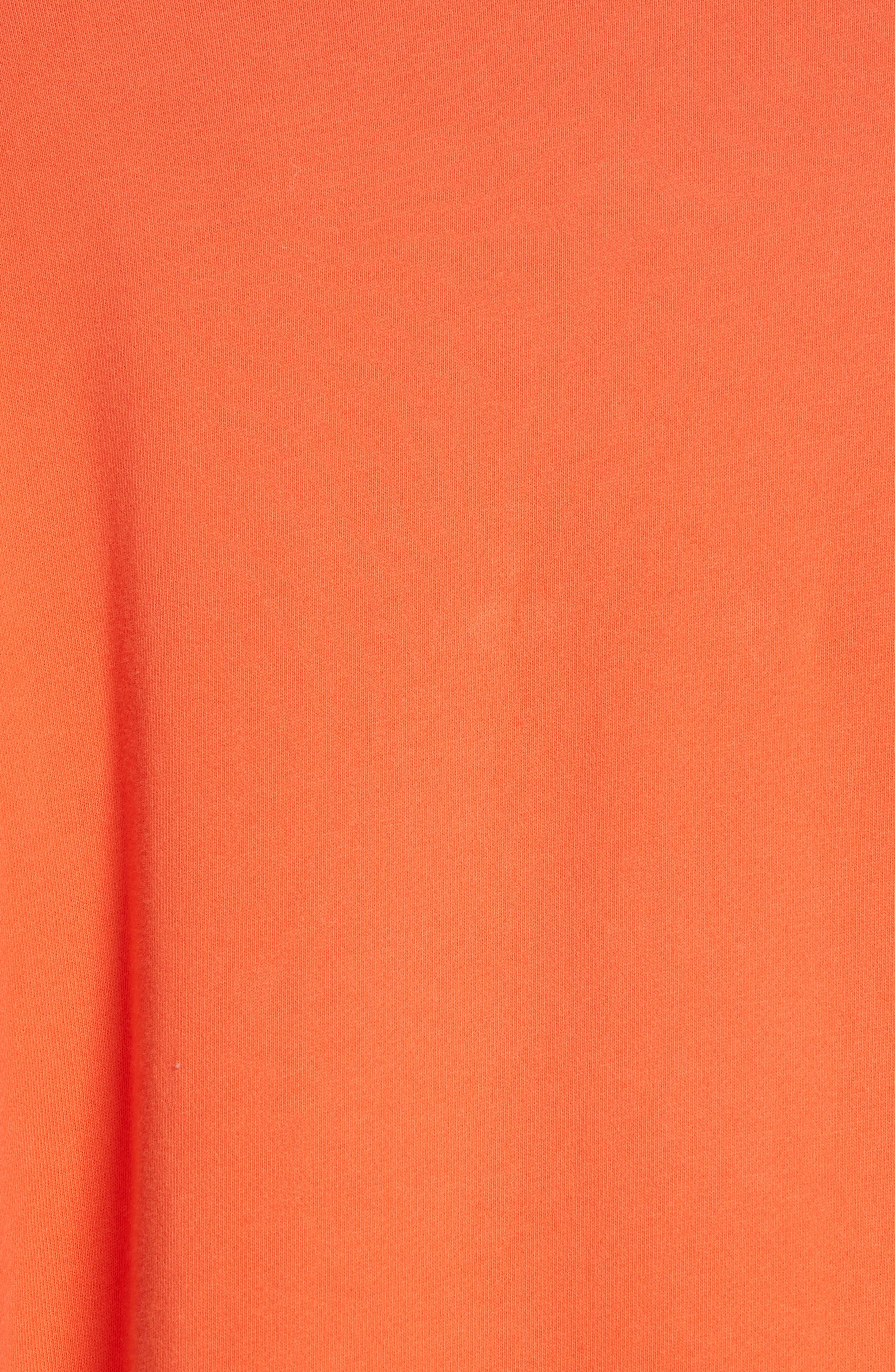 ,                             Sweater Panel Sweatshirt,                             Alternate thumbnail 5, color,                             MAGMA