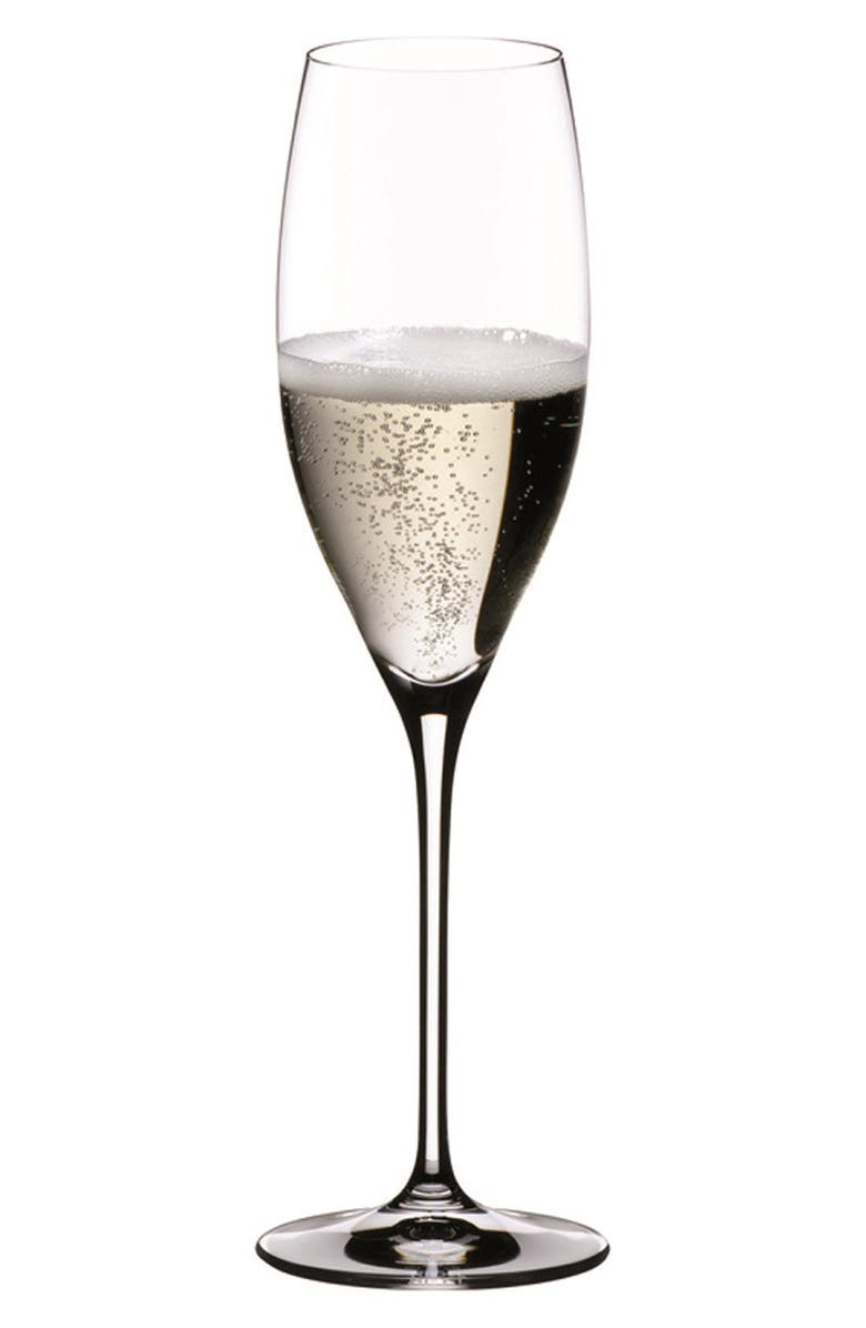 RIEDEL Vinum Cuvee Set of 2 Champagne Flutes, Main, color, CLEAR