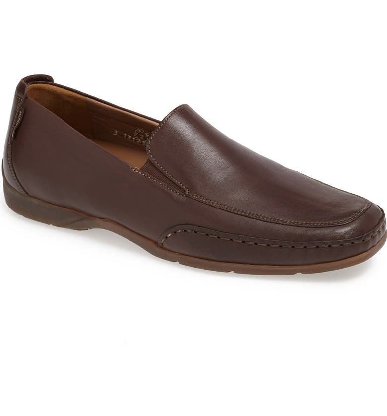 MEPHISTO Edlef Slip-On, Main, color, DARK BROWN SMOOTH LEATHER