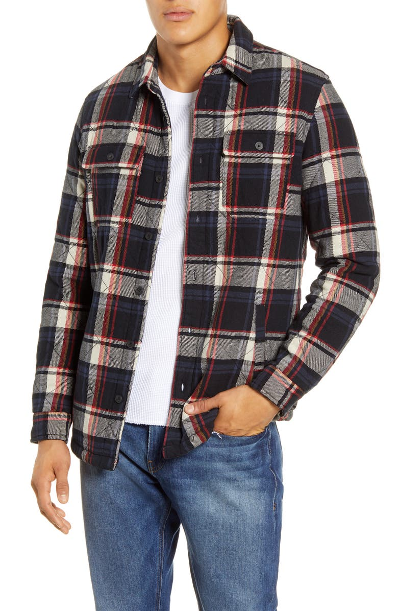 UGG<SUP>®</SUP> Trent Quilted Shirt Jacket, Main, color, BLACK MULTI