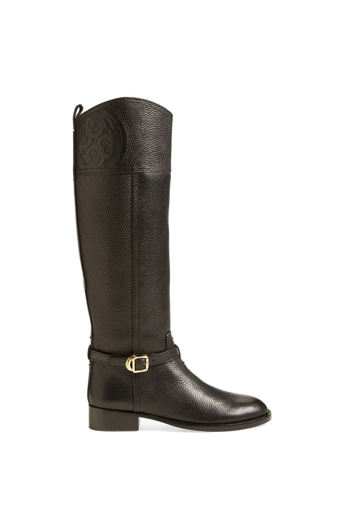 ,                             'Marlene' Leather Riding Boot,                             Alternate thumbnail 3, color,                             001
