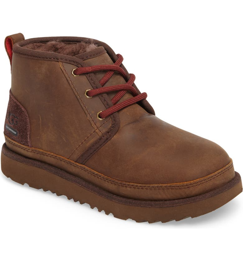 UGG<SUP>®</SUP> Neumel II Waterproof Chukka, Main, color, GRIZZLY