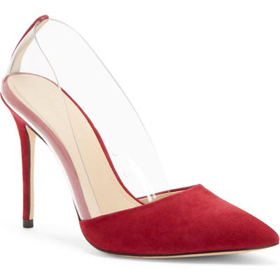 Imagine By Vince Camuto Ossie Clear Pump, Burgundy