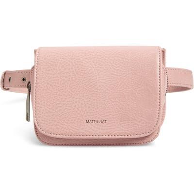 Matt & Nat Park Faux Leather Belt Bag - Pink