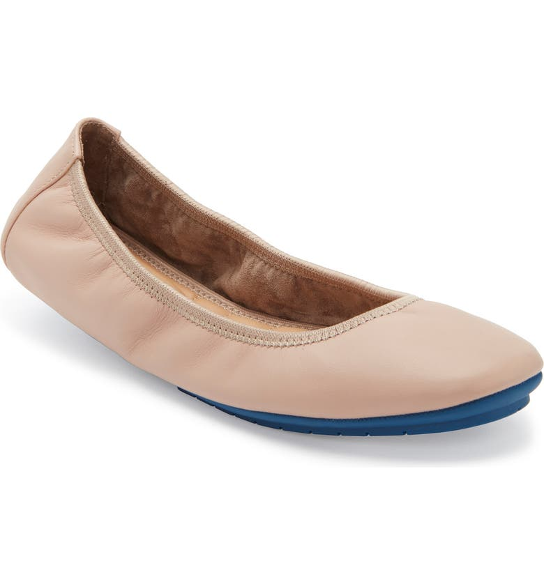 ME TOO 'Tru Blu' Flat, Main, color, LIGHT NUDE LEATHER