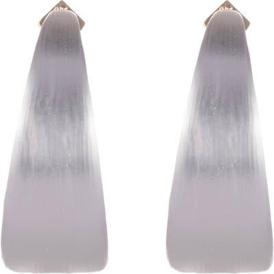 Alexis Bittar Neon Capsule Wide Graduated Medium Hoop Earrings