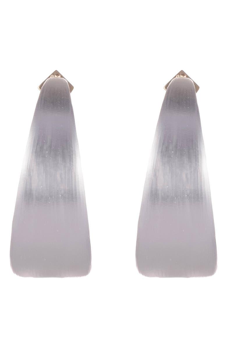 ALEXIS BITTAR Neon Capsule Wide Graduated Medium Hoop Earrings, Main, color, SILVER