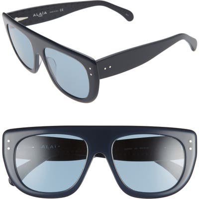 Alaia 55mm Square Flattop Sunglasses - Blue