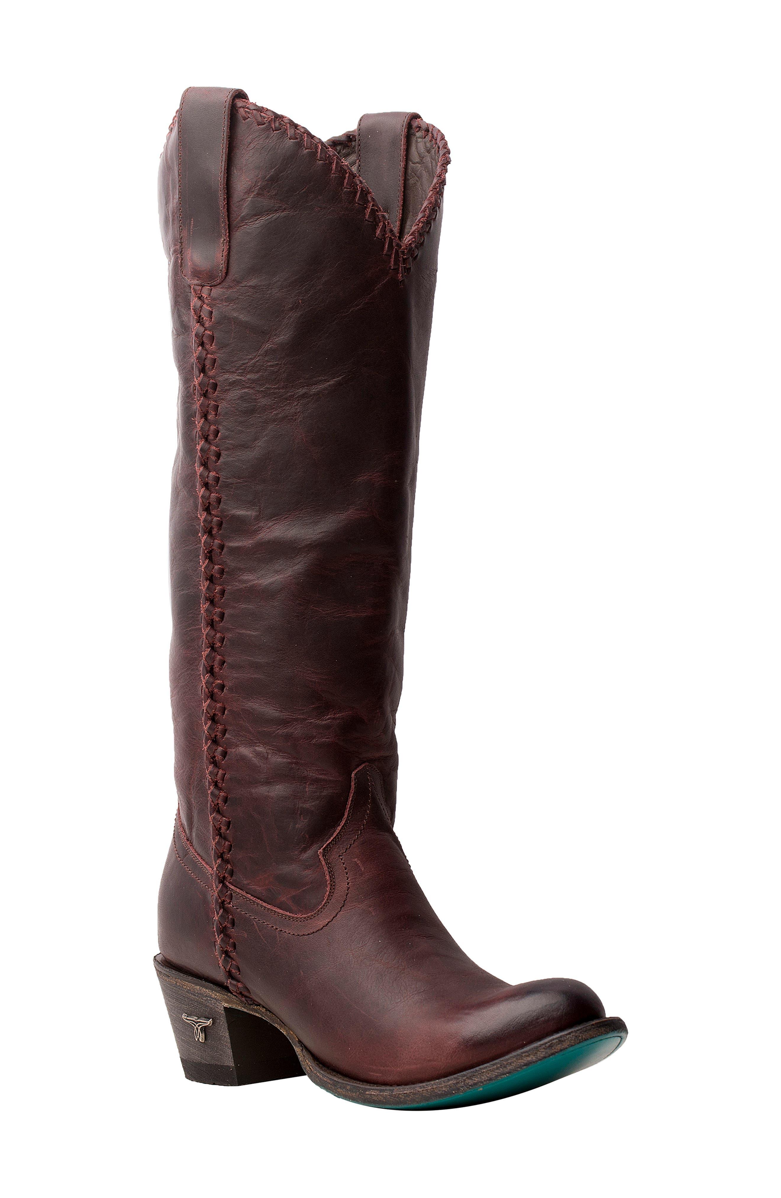 Plain Jane Knee High Western Boot