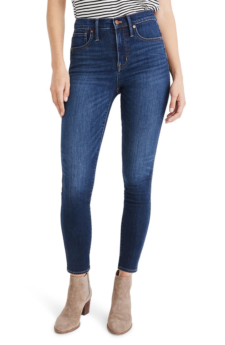MADEWELL 10-Inch High Waist Skinny Jeans: Cashmere Denim Edition, Main, color, 400