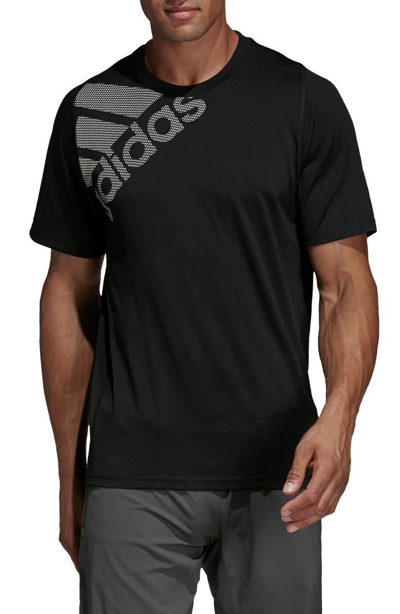 ADIDAS Badge of Logo Graphic Performance T-Shirt, Main, color, 001