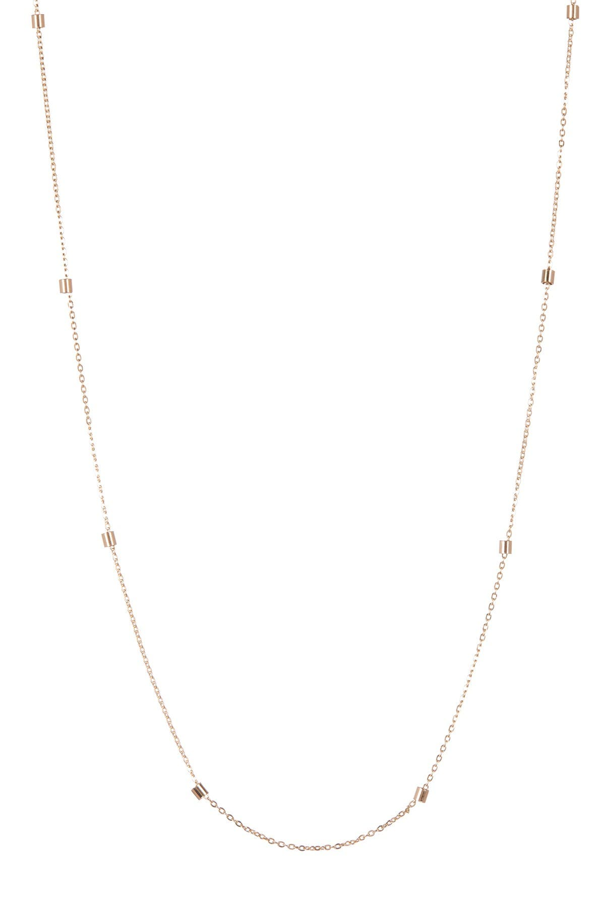Image of KARAT RUSH 14K Yellow Gold Stationed Bead Necklace
