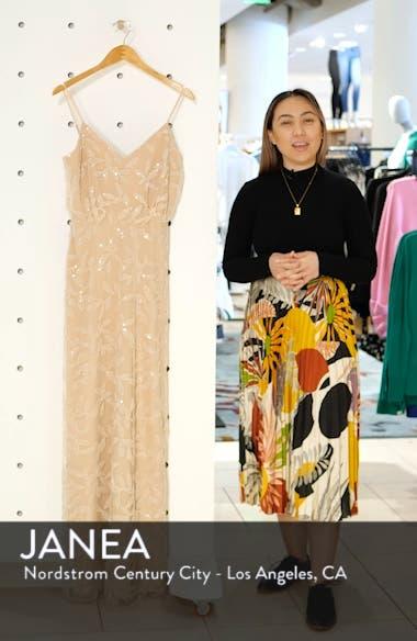 The Savannah Beaded Mesh Blouson Gown, sales video thumbnail