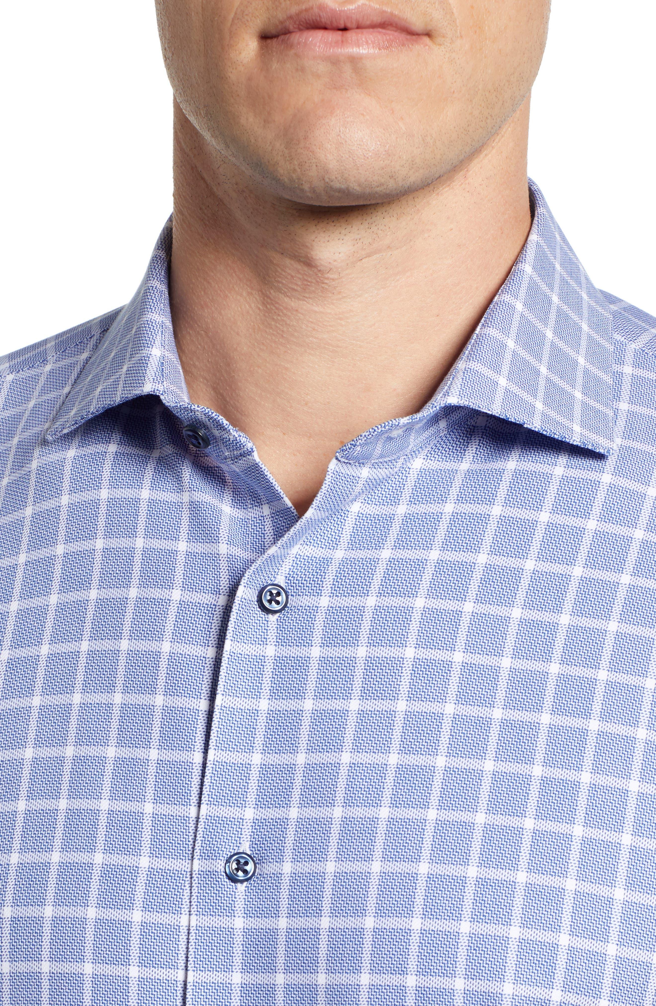 ,                             Tech-Smart Trim Fit Stretch Plaid Dress Shirt,                             Alternate thumbnail 2, color,                             410